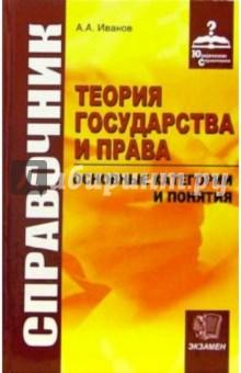 Иванов Алексей Алексеевич Справочник по теории государства и права: основные категории и понятия