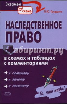 Наследственное право в схемах и таблицах с комментариями - Людмила Грудцына