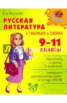Русская литература в таблицах и схемах. 9-11 классы - Валентина Крутецкая