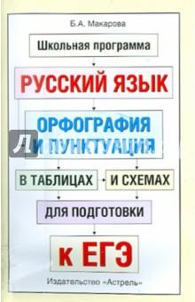 Русский язык. Орфография и пунктуация в таблицах и схемах для подготовки к ЕГЭ - Белла Макарова