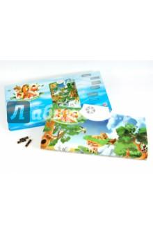 Электронная игра-плакат Зоопарк со звуком (7030)