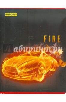 Тетрадь 96 листов Proff. Огонь 2 клетка (6965115021)