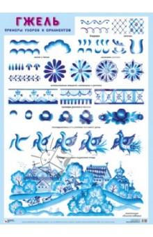 Плакат Гжель. Примеры узоров и орнаментов