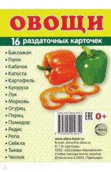 Раздаточные карточки Овощи (63х87 мм)