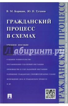 Гражданский процесс в схемах. Учебное пособие - Корякин, Туганов