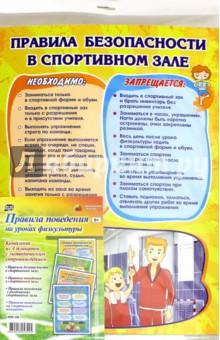 Комплект плакатов Правила поведения на уроках физкультуры. ФГОС