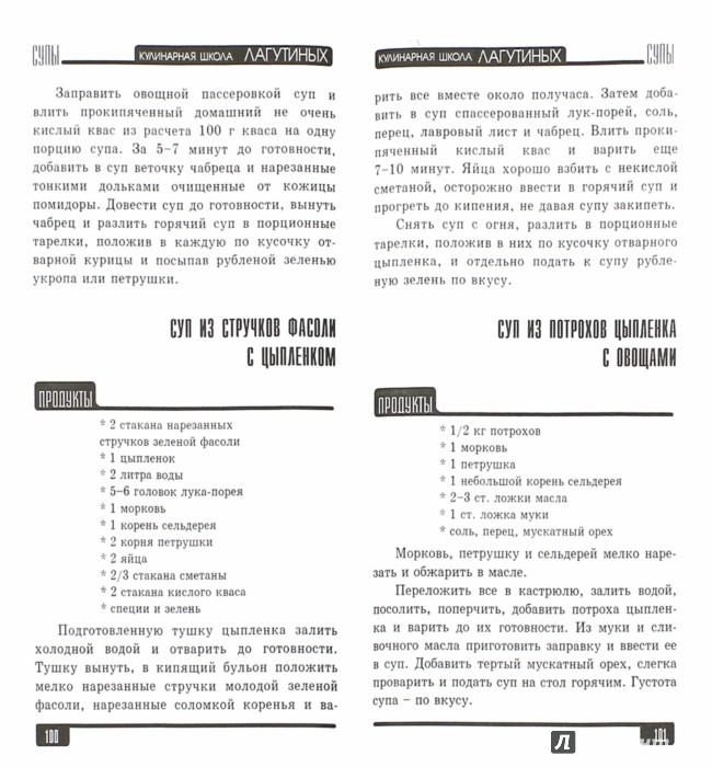 Иллюстрация 1 из 22 для Супы. Сборник кулинарных рецептов - Лагутина, Лагутина | Лабиринт - книги. Источник: Лабиринт