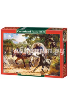 Puzzle-3000. Лошади с повозкой (С-300075)
