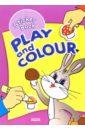 Play and Colour: Раскраска с наклейками (Зайчик)