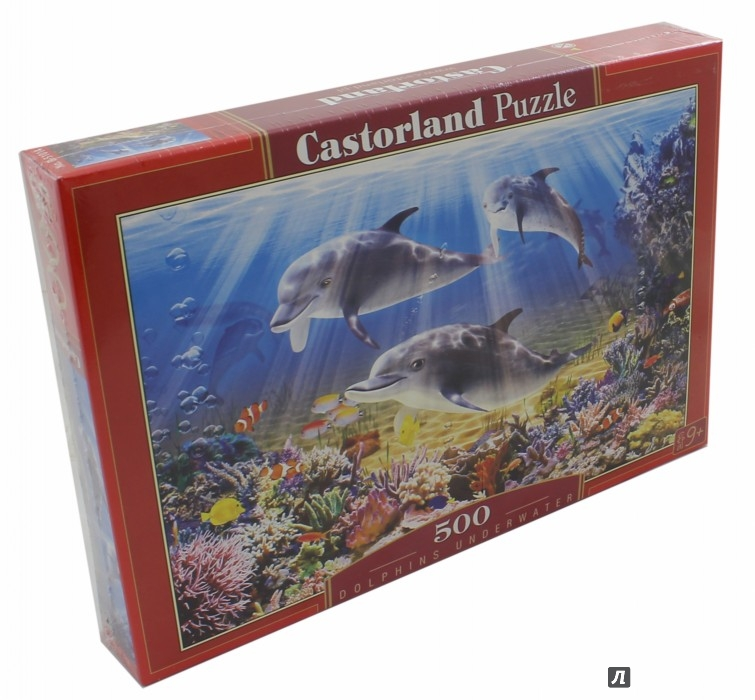 """Иллюстрация 1 из 14 для Puzzle-500 """"Дельфины"""" (В-51014)   Лабиринт - игрушки. Источник: Лабиринт"""