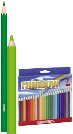 Иллюстрация 1 из 5 для Карандаши 24 цвета Rainbow fibracolor (0968) | Лабиринт - канцтовы. Источник: Лабиринт