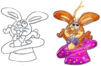 Иллюстрация 1 из 6 для Витраж малый: Кролик | Лабиринт - игрушки. Источник: Лабиринт