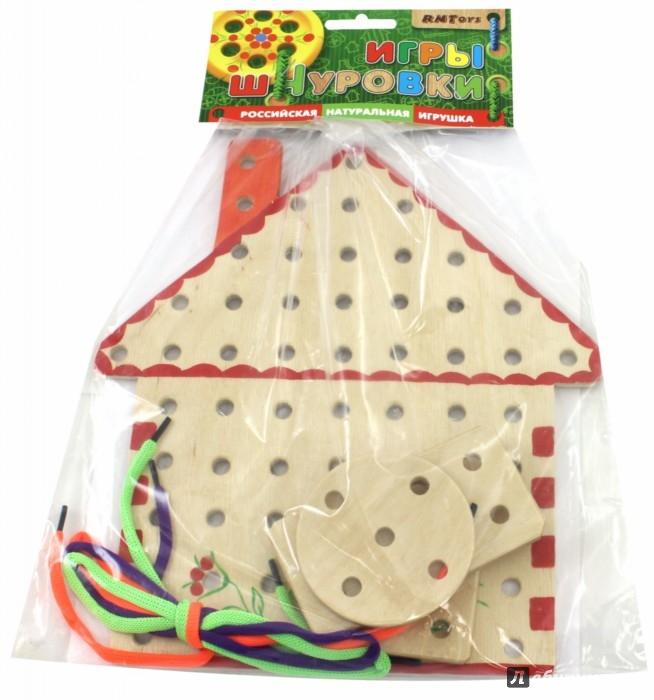 Иллюстрация 1 из 11 для Ш-049 Домик-шнуровка (расписной) | Лабиринт - игрушки. Источник: Лабиринт