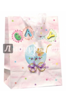 """Пакет подарочный (S2-05B-0023)  """"Baby-коляска"""""""
