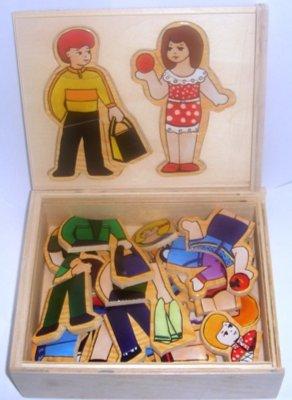 """Иллюстрация 1 из 11 для Развивающая деревянная игра """"Мальчик и девочка в коробке"""" (D198)   Лабиринт - игрушки. Источник: Лабиринт"""