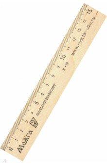 Линейка 15 см, деревянная (С03)
