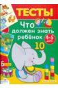Синякина Елена,  Светлана Что должен знать ребенок 4-5 лет