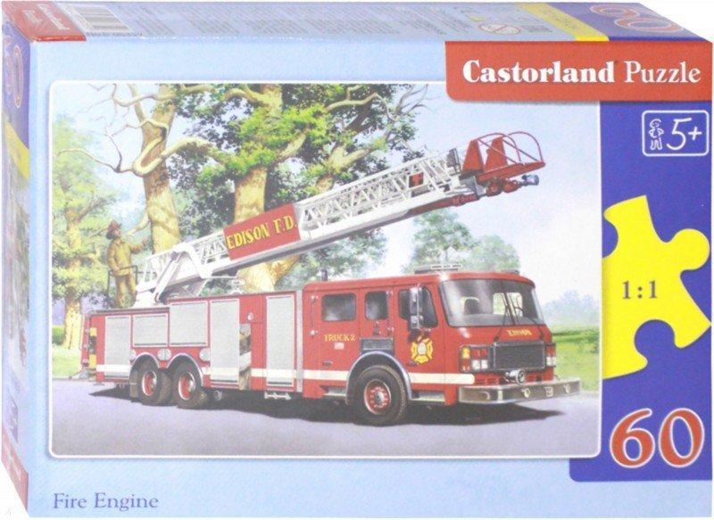 """Иллюстрация 1 из 6 для Puzzle-60 MIDI """"Пожарная команда"""" (В-06359)   Лабиринт - игрушки. Источник: Лабиринт"""