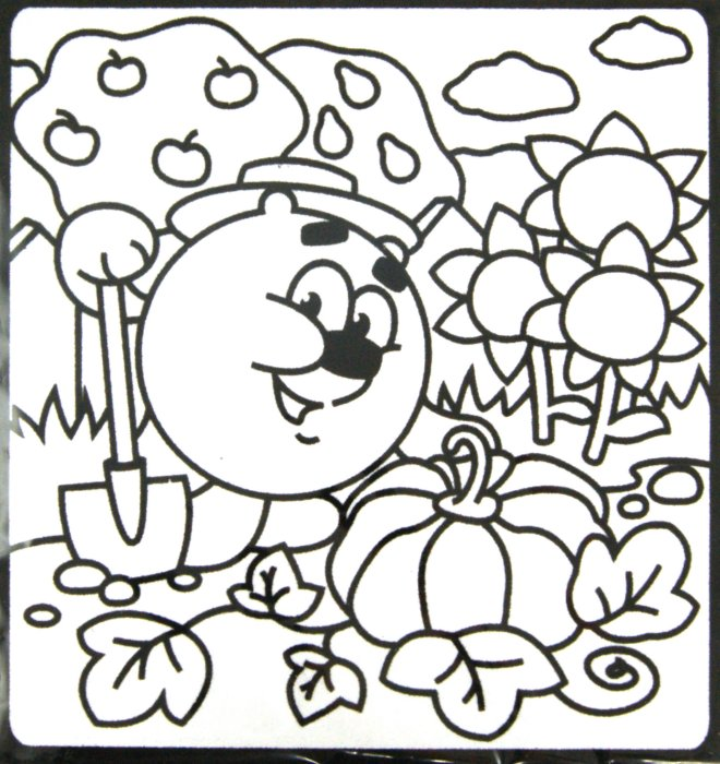 Иллюстрация 1 из 2 для Бархатная картинка-мини. Тыква Копатыча | Лабиринт - игрушки. Источник: Лабиринт