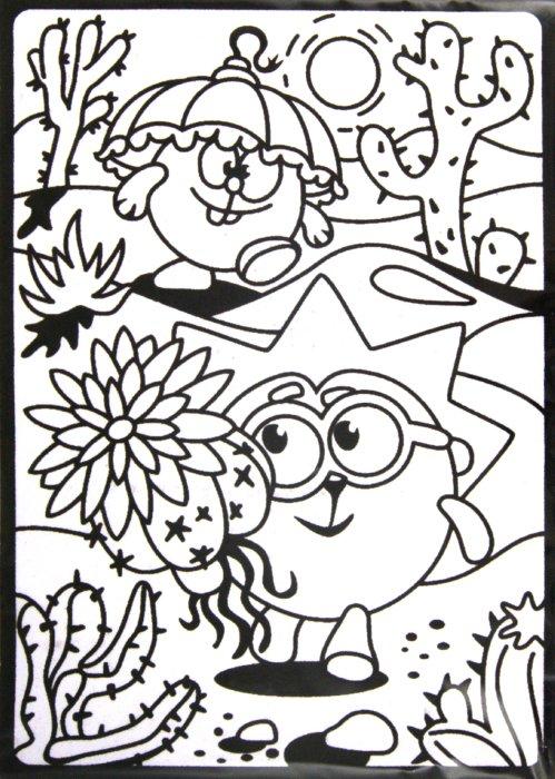 Иллюстрация 1 из 2 для Бархатная картинка. Ежик в пустыне | Лабиринт - игрушки. Источник: Лабиринт