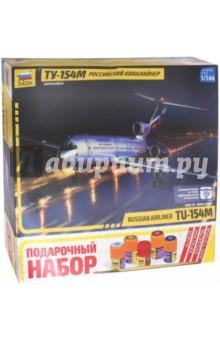 Купить Российский авиалайнер Ту-154М (М:1/144), Звезда, Пластиковые модели: Авиатехника (1:144)