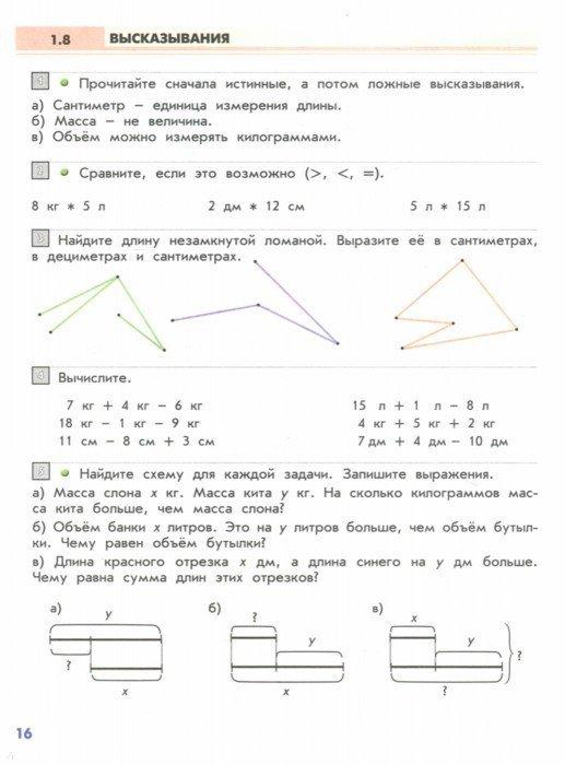 Решить задачу по математике 2 класс демидова козлова тонких