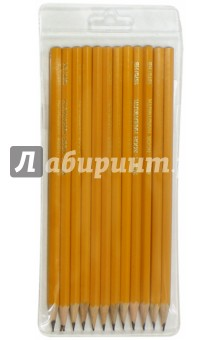 Карандаши чернографитные различной твердости (12 штук) (1500/12)