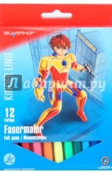 Фломастеры 12 цветов Superhero cosplay (871226-01).