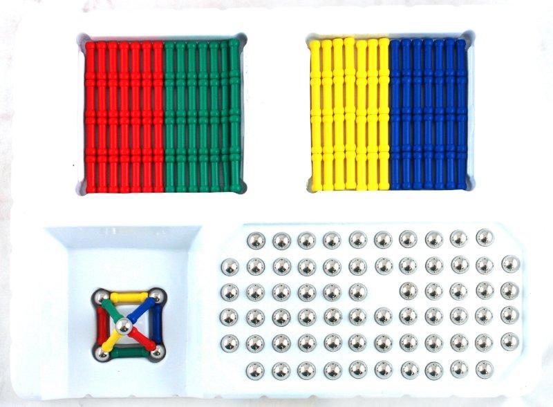 Иллюстрация 1 из 22 для Конструктор магнитный (192 элемента) (30229) | Лабиринт - игрушки. Источник: Лабиринт