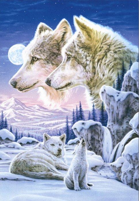 """Иллюстрация 1 из 2 для Пазл-500 """"Волчья Стая"""" (13412)   Лабиринт - игрушки. Источник: Лабиринт"""