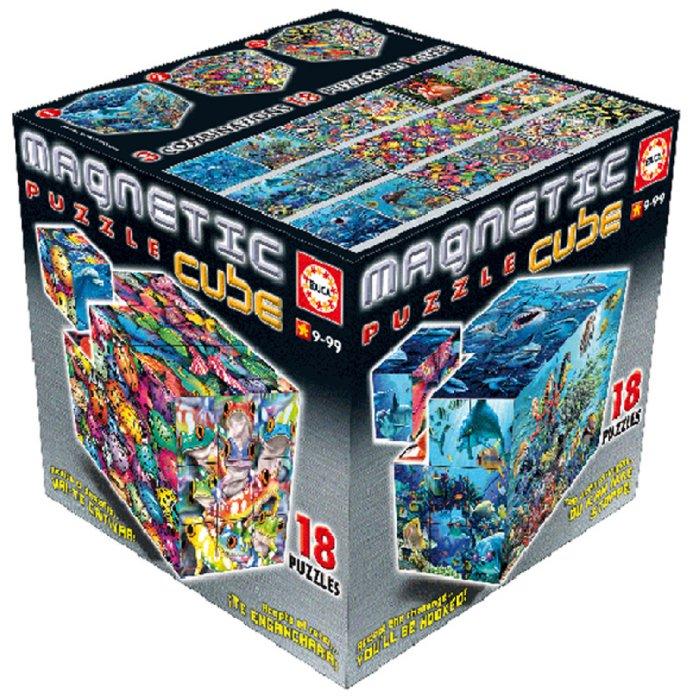 """Иллюстрация 1 из 3 для Магнитные кубики-пазлы """"Животные"""" (27 кубиков, 18 пазлов) (14060)   Лабиринт - игрушки. Источник: Лабиринт"""