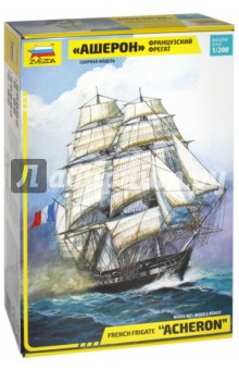 Купить Французский фрегат Ашерон (9034), Звезда, Пластиковые модели: Морфлот