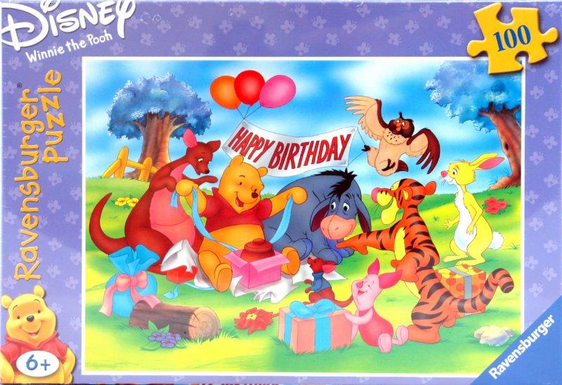 Иллюстрация 1 из 2 для Вечеринка Винни-Пуха. Пазл 100 элементов. 107902 | Лабиринт - игрушки. Источник: Лабиринт