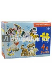 "Puzzle-4х5х6х7 ""Животные"" (4 в 1) (В-04096)"