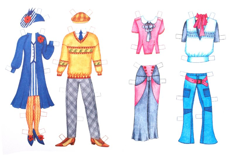 Иллюстрация 1 из 4 для Бумажная кукла: Полина и Витя | Лабиринт - книги. Источник: Лабиринт