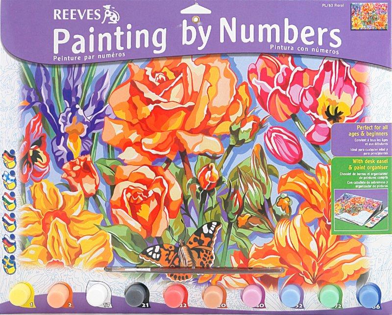 """Иллюстрация 1 из 2 для Набор для раскрашивания красками """"Цветы"""" (PL/63)   Лабиринт - игрушки. Источник: Лабиринт"""