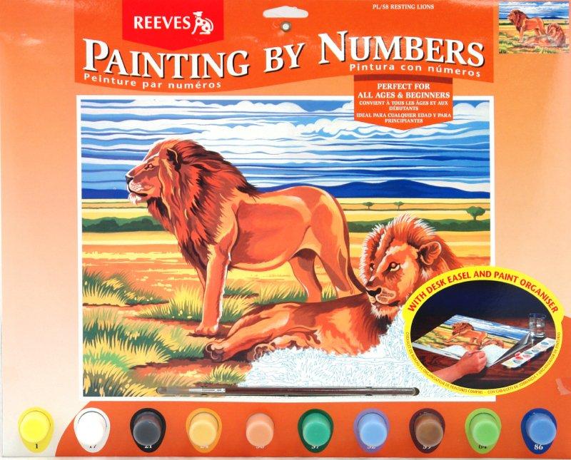 """Иллюстрация 1 из 12 для Набор для раскрашивания красками """"Львы на отдыхе"""" (PL/58)   Лабиринт - игрушки. Источник: Лабиринт"""