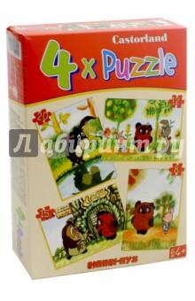 """Puzzle-8х12х15х20 """"Винни Пух"""" (4 в 1) (В-04046)"""