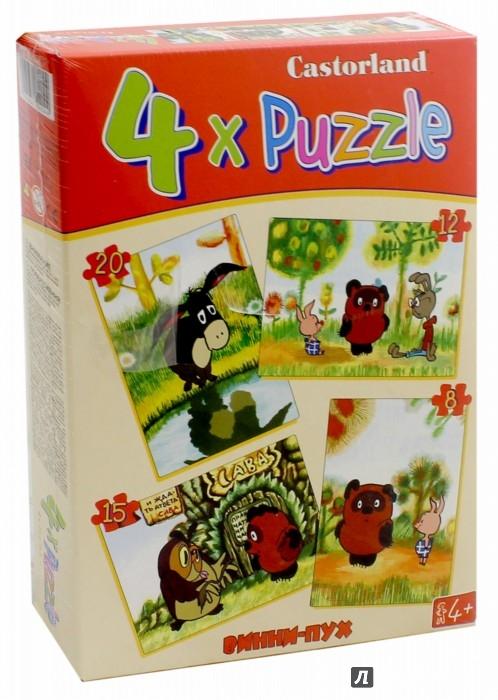 """Иллюстрация 1 из 5 для Puzzle-8х12х15х20 """"Винни Пух"""" (4 в 1) (В-04046)   Лабиринт - игрушки. Источник: Лабиринт"""