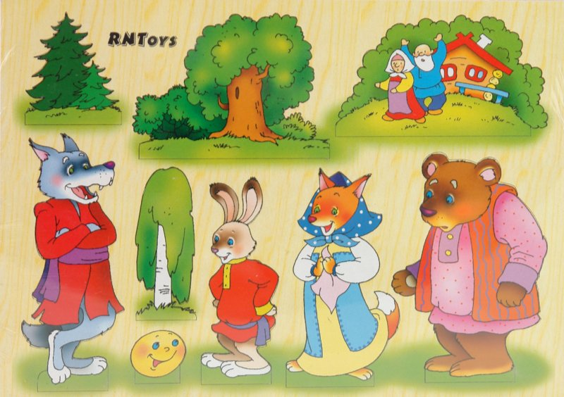 Иллюстрация 1 из 17 для Сказка Колобок на магнитах (Ли-161) | Лабиринт - игрушки. Источник: Лабиринт