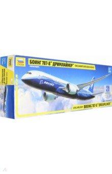 Купить Пассажирский авиалайнер Боинг 787-8 Дримлайнер (7008), Звезда, Пластиковые модели: Авиатехника (1:144)