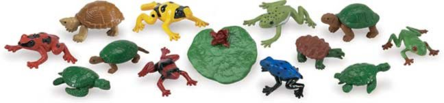 Иллюстрация 1 из 9 для Лягушки и черепахи, 13 фигурок (694804)   Лабиринт - игрушки. Источник: Лабиринт