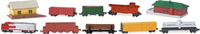 Иллюстрация 1 из 14 для Поезд, 10 фигурок (684104) | Лабиринт - игрушки. Источник: Лабиринт