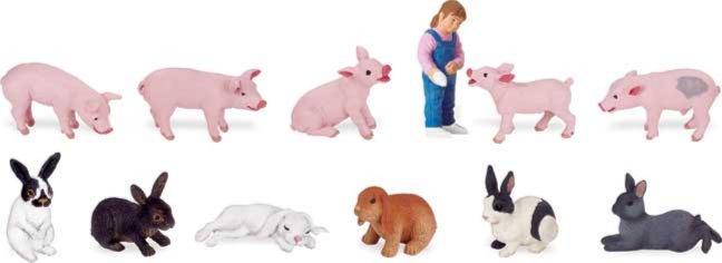Иллюстрация 1 из 6 для Свинки и зайцы, 12 фигурок (689404) | Лабиринт - игрушки. Источник: Лабиринт