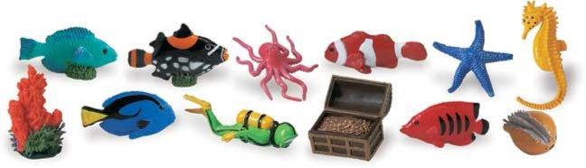 Иллюстрация 1 из 17 для Коралловый риф, 12 фигурок (699104) | Лабиринт - игрушки. Источник: Лабиринт