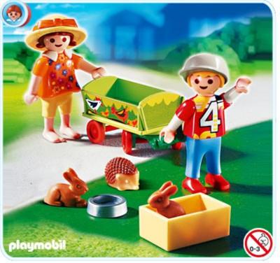 Иллюстрация 1 из 7 для Дети с животными в тележке (4349) | Лабиринт - игрушки. Источник: Лабиринт