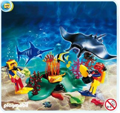 Иллюстрация 1 из 3 для Дайверы на коралловом рифе (4488) | Лабиринт - игрушки. Источник: Лабиринт