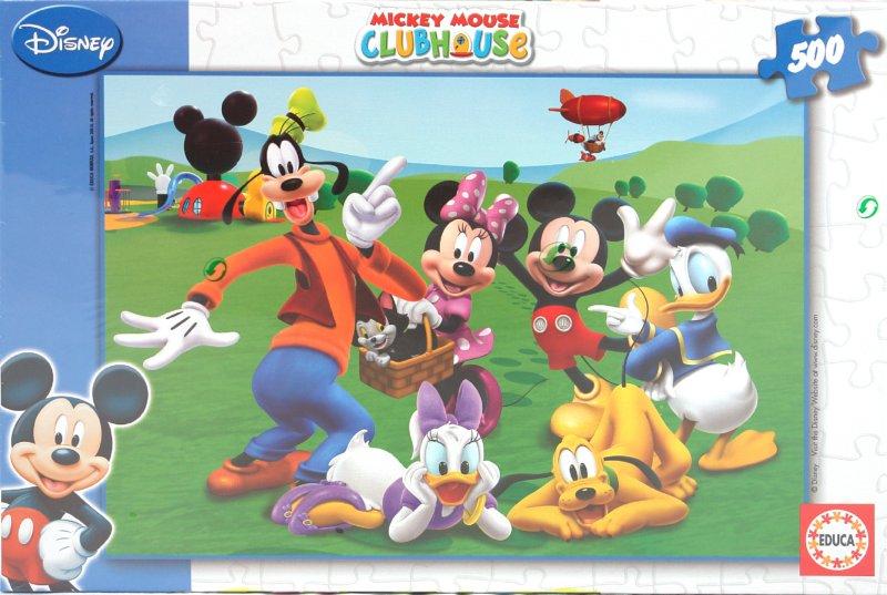 """Иллюстрация 1 из 2 для Пазл-500 """"Клуб Микки Мауса"""" (14485)   Лабиринт - игрушки. Источник: Лабиринт"""