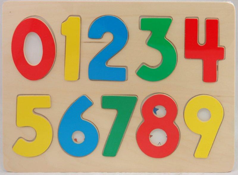 Иллюстрация 1 из 6 для Рамка вкладыши цифры (1766А) | Лабиринт - игрушки. Источник: Лабиринт
