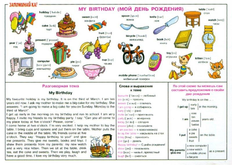 Иллюстрация 1 из 12 для Английский. Мой день рождения. Для учащихся 2-5 классов. Плакат | Лабиринт - книги. Источник: Лабиринт